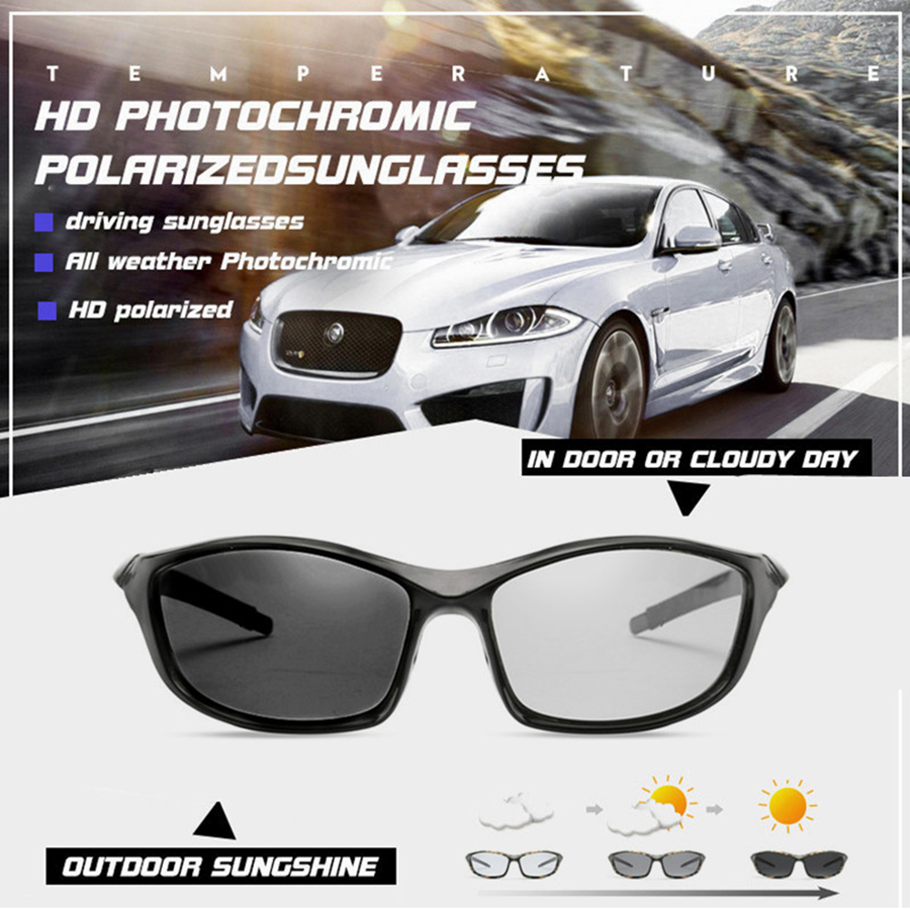 Brand Designer Polarized Sunglasses For Men Polarized Eyewear Men Chameleon Glasses Women Sunglasses Drivers Gafas de sol hombre in Cycling Eyewear from Sports Entertainment