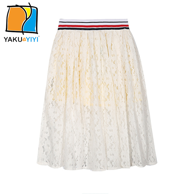 18fdafa597e2 YKYY YAKUYIYI New Girls Skirt Sweet Lace Pleated Baby Girls Skirt ...