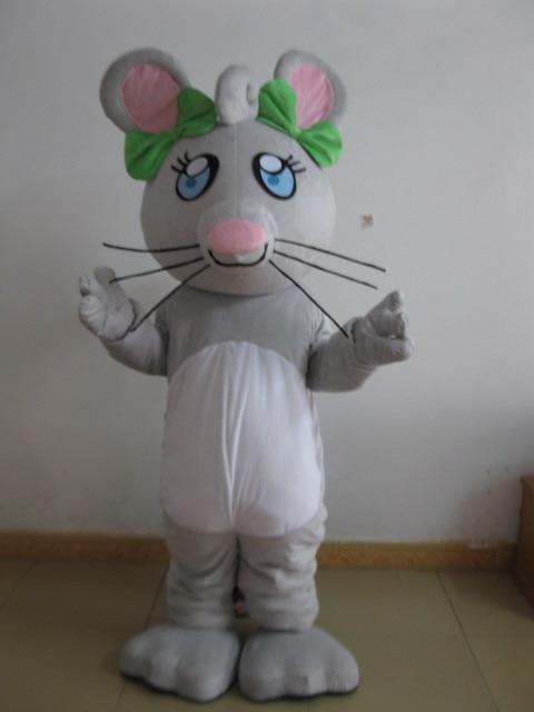 Offre spéciale caractère adulte belle souris grise mascotte Animal Costume déguisement Halloween costume de fête