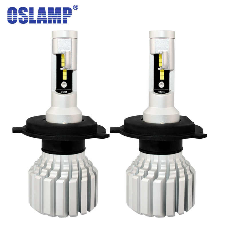 Oslamp V5S H4 H7 H11 9005 9006 Car LED Headlight Bulbs CSP Chips Fan-less 60W 7000LM 6500K Auto HB3 HB4 Led Car Lamps 12V