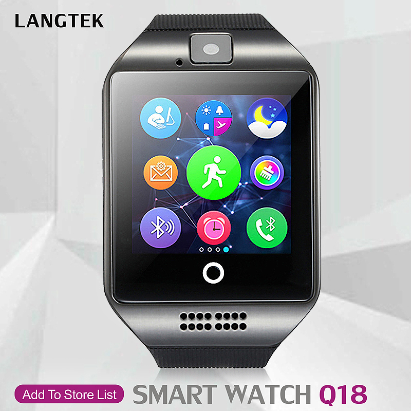LANGTEK font b Smart b font Watch Q18 For Ios Android phone Support Multi languages With