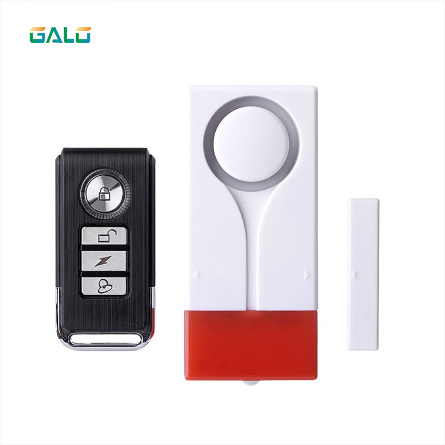 Home Security Alarm Red Flash With Sound Window Door Magnet Sensor Detector Wireless Alarm System+remote Controller