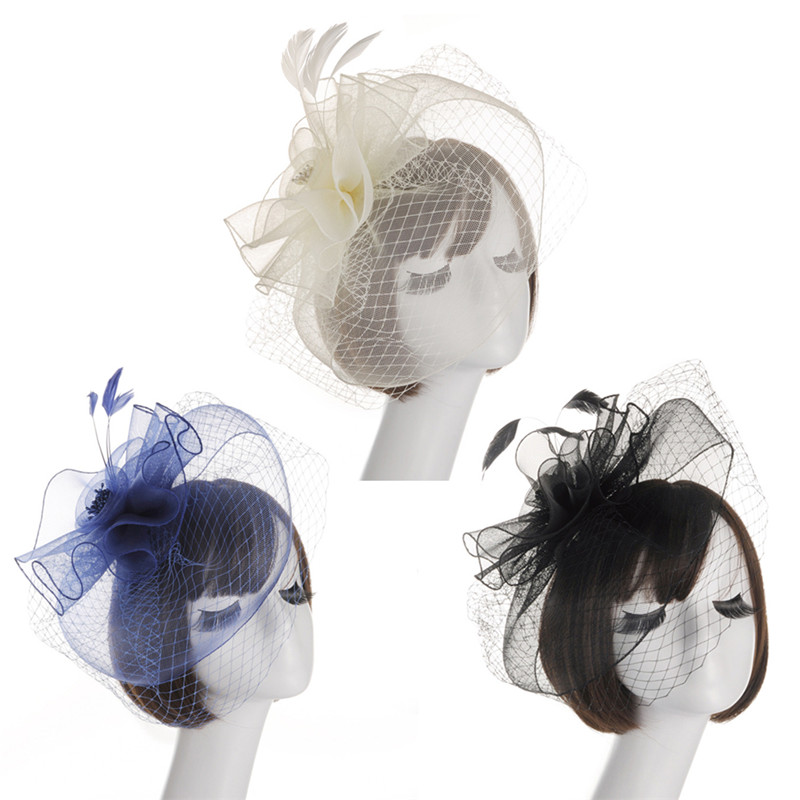 1 Stück Frauen Haar Clip Elegante Spitze Net Blume Form Fascinator Hut Clip Zubehör GroßE Auswahl;