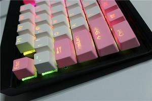 Image 3 - MP 108/87 מפתחות Translucidus תאורה אחורית PBT Keycap עבור Corsair לבזוק K65 K70 Logitech G710 + Wired USB מכאני מקלדת Keycap