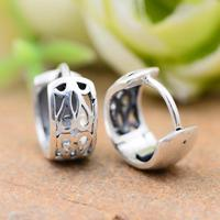 925 Sterling Silver Vintage Ear Cuff Earrings For Women Hollow Flower Carved Ear Clips Boucle D