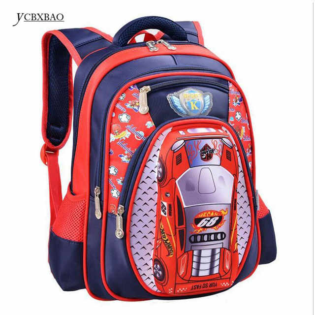 fa4836cb1e42 3D Cartoon Big Capacity Russia Style Orthopedic School bags For Boys Car  Ultralight Waterproof Backpack Child Kids School bag