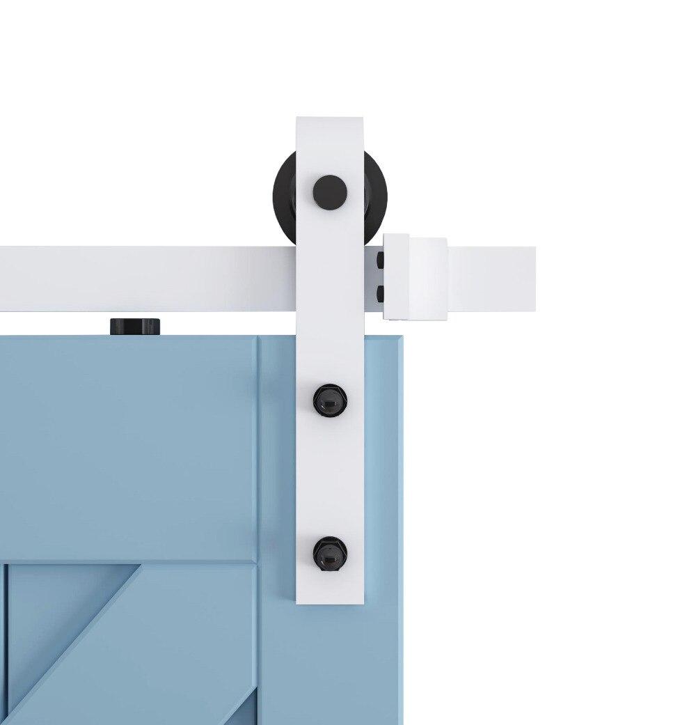 DIYHD blanc enduit porte coulissante grange matériel placard bois grange porte coulissante kit