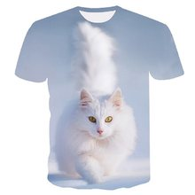 Off white cat Print t-shirt Vrouwen tshirt Casual Grappige t-shirt Voor Lady Girl Top Tee Hipster harajuku Drop schip plus size M-5XL(China)