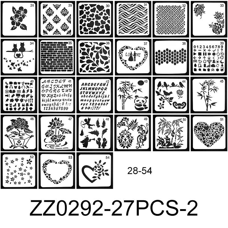 Rainbox 1pcs 13*13cm Diary Stencil Paint Learning Notebook Scrapbooking Drawing Template DIY Educational Toy For Children Gift