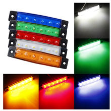 цена на 10pcs LED Red White Green Blue Yellow Amber Clearence Truck Bus Trailer Side Marker Indicators Light Lamp 12V 24V