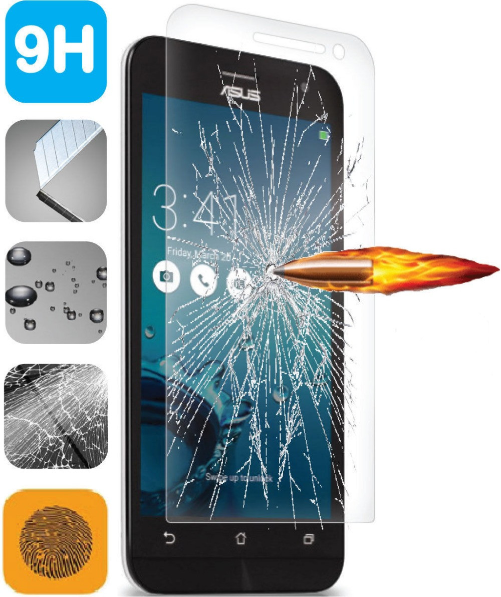 Anti-Scratch Tempered Glass Screen Protector Flim For Asus Zenfone 2 Laser ZE550KL 5.5 inch Front Arc Edge Protective Films