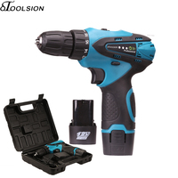 12V Electric Screwdriver Electric Drill 18+1 Cordless Drill Rechargeable Screwdriver Electric Cordless Drill Variable Speed
