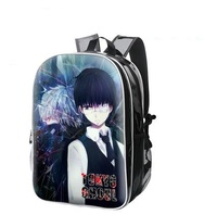High Q Fashion 1 Backpack Anime tokyo ghoul Cosplay pu leather Laptop School Bag