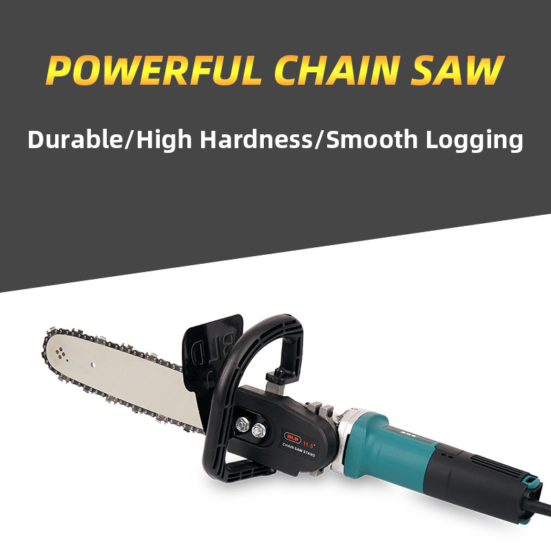 Chainsaw Bracket Parts Changed Angle Grinder Into Chain Saw 11 5 Inch 29cm Wood Cutting Electric Saw Transfer Remaker Power Tool