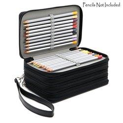 72 أصحاب 4 طبقات مفيد بولي Leather الجلود مدرسة أقلام رصاص حافظة سعة كبيرة الملونة حقيبة أقلام رصاص للطلاب هدية الفن لوازم