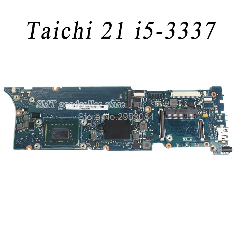 For ASUS Taichi 21 with i5-3337 CPU board Laptop Motherboard Mainboard for asus k501ux k501ub laptop motherboard k501ux mainboard rev2 0 i5 cpu with graphics card 100