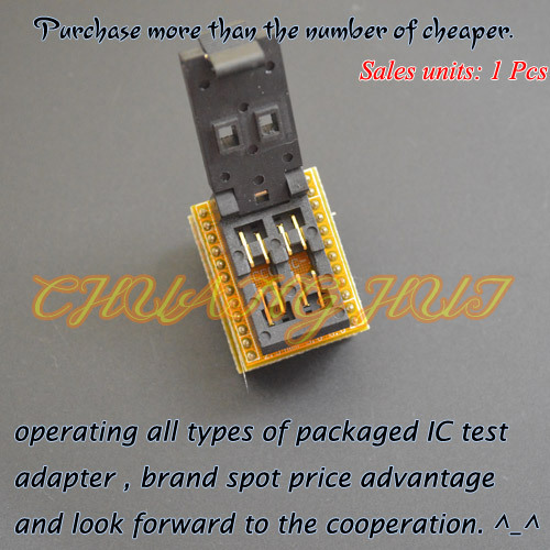 IC TEST Optocouplers test socket Optocouplers SMD4 to DIP4 test socket Pitch=2.54mm width=3.8mm/6.6mm