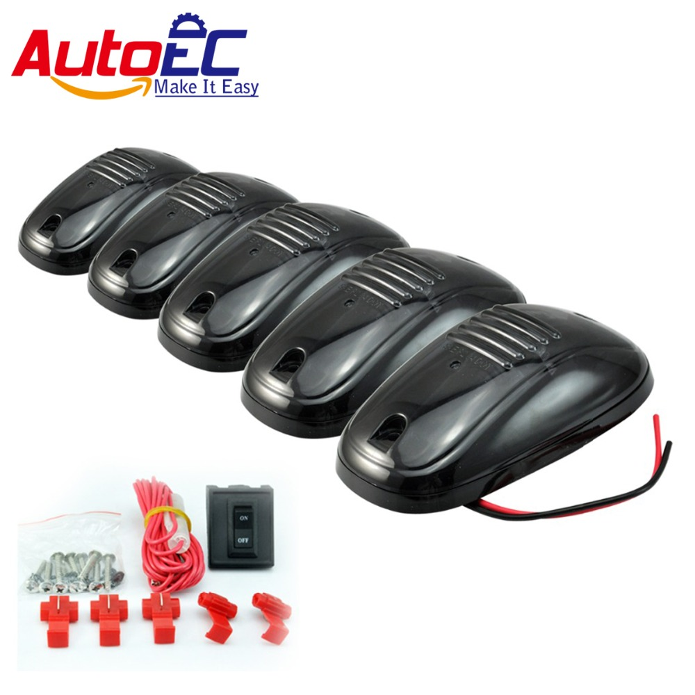 все цены на AutoEC 10set 2015 New LED Car Truck Roof Top Marker Running Lamps Amber light bulb Black Smoked Cab for SUV #LM126