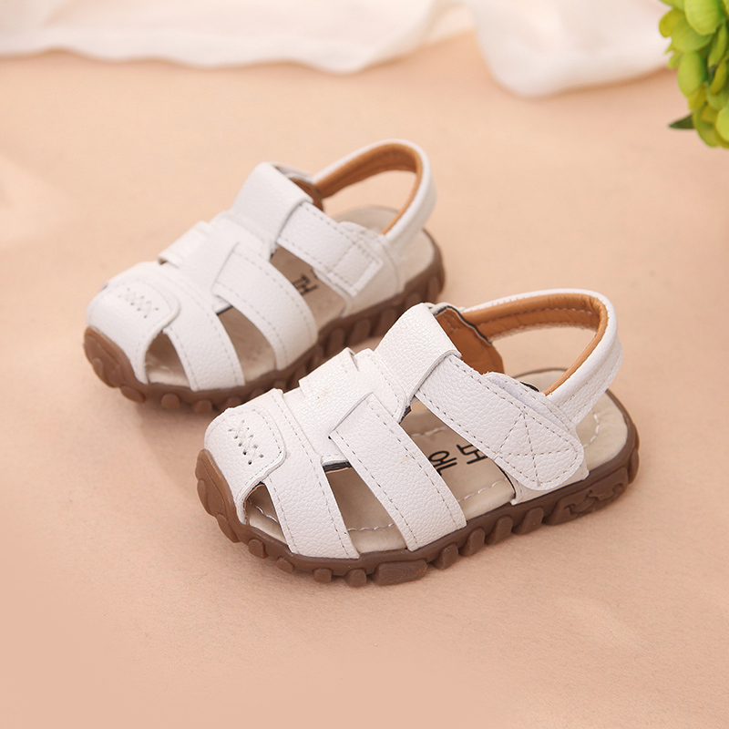Купить с кэшбэком Baby Boys Summer Sandals Toddler Kids Beach Sandals Children Closed Toe Outdoor Shoes Children Sport Shoes Sneakers Size 21-30