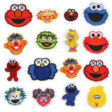 15pcs Sesame Street Cartoon ELMO Patches for Clothing Patch Iron On T-shirt Hat Applique Garment Parches