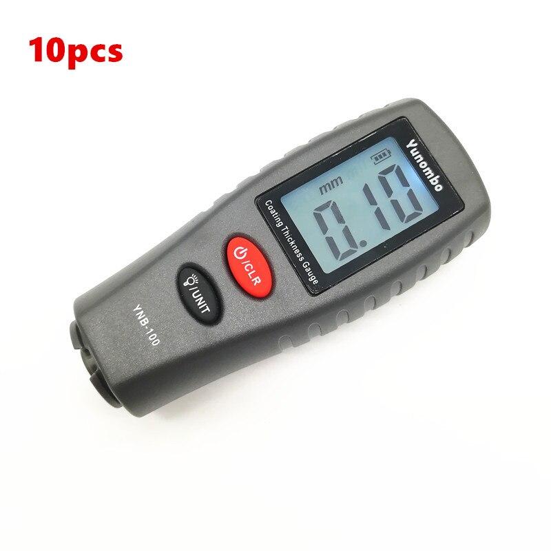10 ps Mini Digital Medidor de Espessura de Revestimento Pintura Do Carro Medidor de Espessura Espessura Da Pintura tester com backlight YNB-100