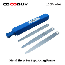 Novecel 100 PCS 0.005 mm Metal Sheet for separating Glass, Middle frame from S6 edge , edge+ and S7 ege