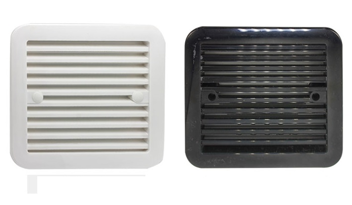 Rv Side Air Vent Grille With Fan Travel Trailer In Cabinet