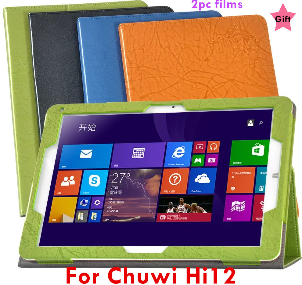 Flip Cover for Chuwi hi12 hi 12 12 Tablet Case Floral Print PU Leather Case Cover + 2pcs Screen screen protector for chuwi hi12 flip leather case for chuwi hi12 12 inch tablet pc for chuwi hi 12 case with card holder drop shipping stylus