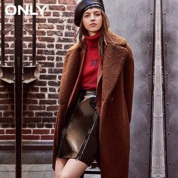 Только женские зимние новые ягненка кашемир на одной пуговице хлопок пальто куртка боковые карманы одна пуговица дизайн пальто женское зим...