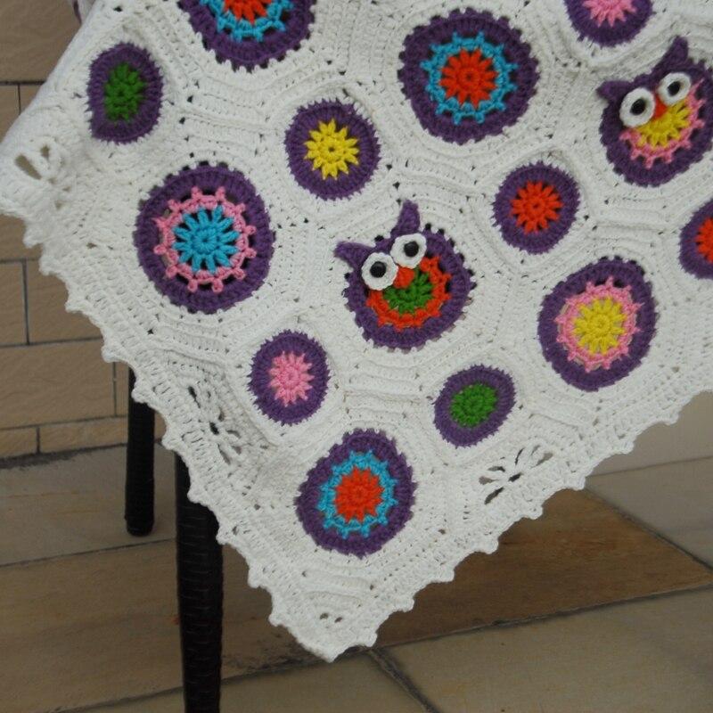 Perfecto Patrón Manta Crochet Búho Libre Elaboración - Manta de ...