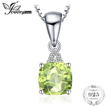 a554ddaf3 JewelryPalace 1.1ct Cushion-Cut Genuine Peridot Necklace & Pendants 925  Sterling Silver 45cm Box