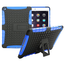 Heavy Responsibility TPU&PC Twin Armor case For iPad air 2 case with stand For iPad 6 Protecting Pores and skin pill equipment