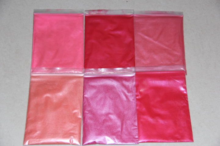 Pink Red Series Cosmetic Mica powder Pigment use for lipstick eye shadow Soap