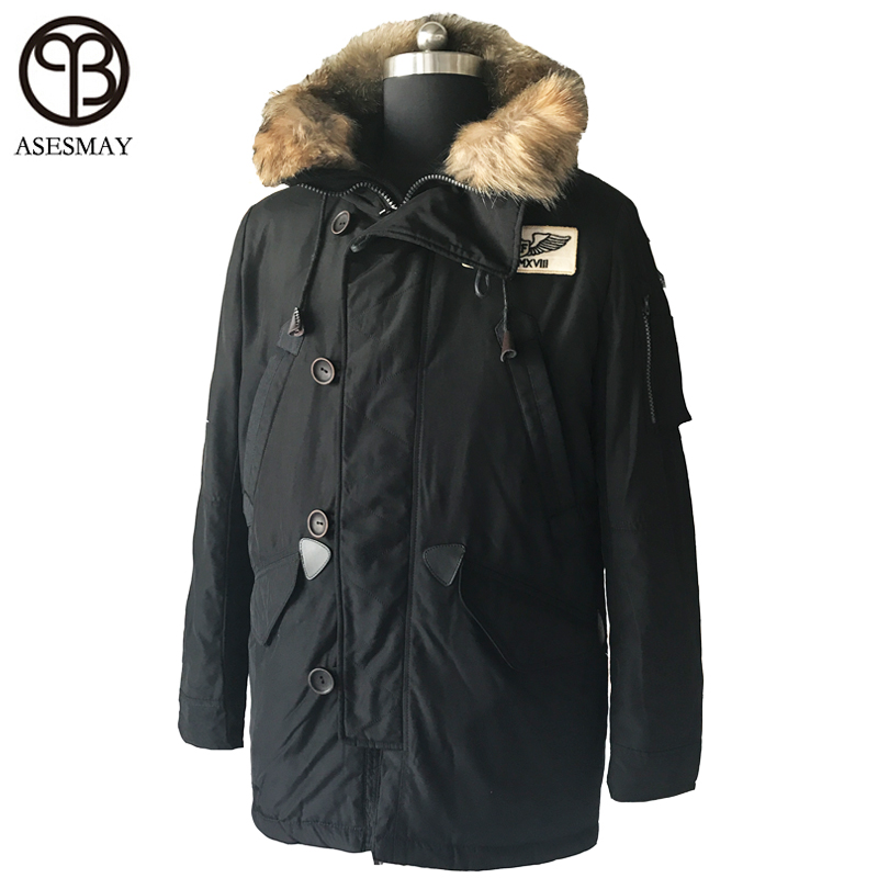 Asesmay brand clothing winter men down jacket mens winter coat high quality thick mens parka wellensteyn casual winter jackets