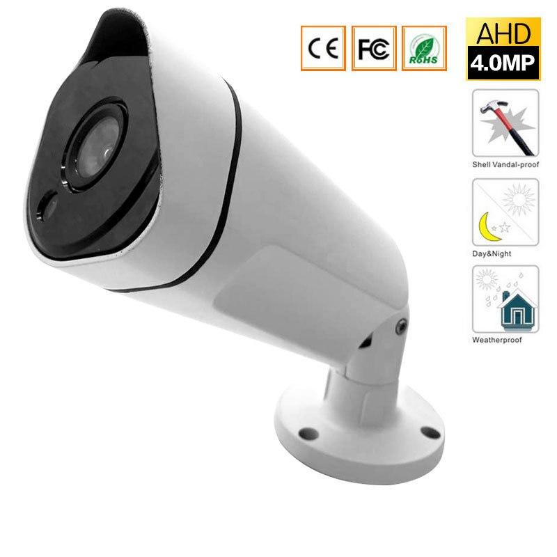 CCTV Security Surveillance HD Night Vision IR IR Range Up To 25M 4MP Full HD Outdoor / Indoor Bullet Camera 3.6mm Lens DC 12V hd bullet ip camera 4mp outdoor with poe big size 2 8 12mm lens cctv security camera realtime ir long range 90m night vision
