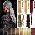 """Mega nova moda rabo de cavalo de 26 """" 66 cm longo magia colar senhora rabos de cavalo sintético em linha reta extensão cabelos meninas rabo de cavalo"""
