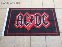 ACDC Flag Digital Printed Banner Polyester Hand Flags 90x150cm White Sleeve With 2 Metal Grommets 3ft