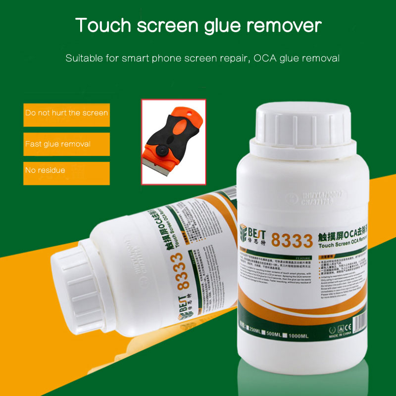 Strong 8222 8333 250ml Touch Screen OCA Removing Liquids Repair Liquid Glue Fluid <font><b>PCB</b></font> Cleaning for Iphone Sumsung +knife image