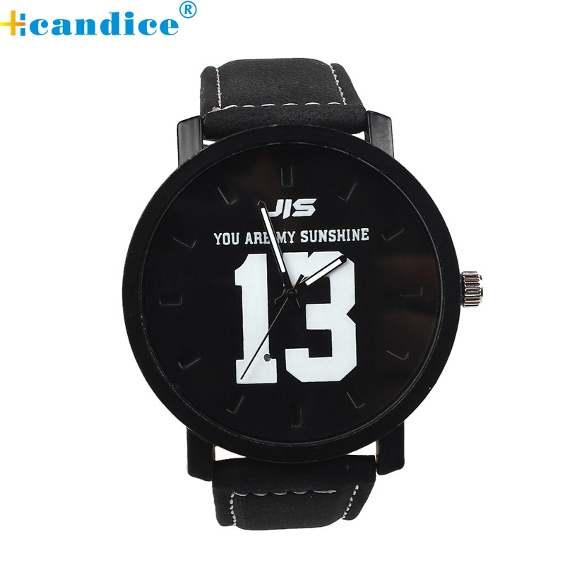 Splendid Fashion Lovers Men Women Leather Band Quartz Analog Wrist Watch Masculino Reloje fashion men women lovers clocks silicone band black big dial quartz analog wrist watch creative apr22