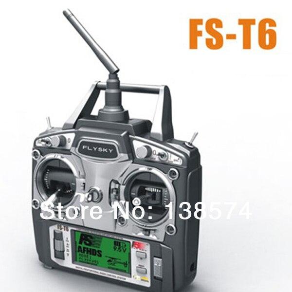 fst6 - Flysky FS-T6 2.4GHz 6CH LCD TX Transmitter + RX Receiver Radio Control System