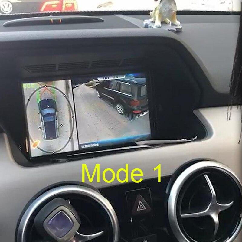 2018 Date Dual Mode 3D HD Surround la Surveillance de la Vue Système 360 Degrés Conduite Oiseau Voir Panorama De Voiture Caméras 4-CH DVR enregistreur
