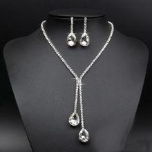 Fashion Wedding Bridal Rhinestone Crystal Jewellery Set Necklace and Earring Set