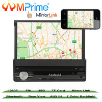 AMprime 7 1 din Car Multimedia Video Play Android 6.0 Touch Screen Car Radio Audio Stereo GPS Wifi BT USB FM Rear View Camera