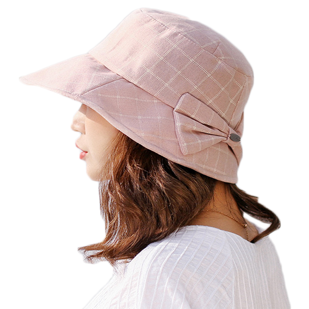 joejerry Plaid Bucket Hat Elegant Cloth Sun Hat Women Summer Hats Sun  Protection Base Cap 2018 New-in Bucket Hats from Apparel Accessories on  Aliexpress.com ... 8d12ed60b900