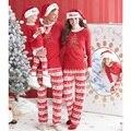 Belababy Семьи Соответствующие Наборы Рождественские Костюмы Мода Полосатый Семья Onesie Пижамы Набор Детей Дети Рождество Пижамы