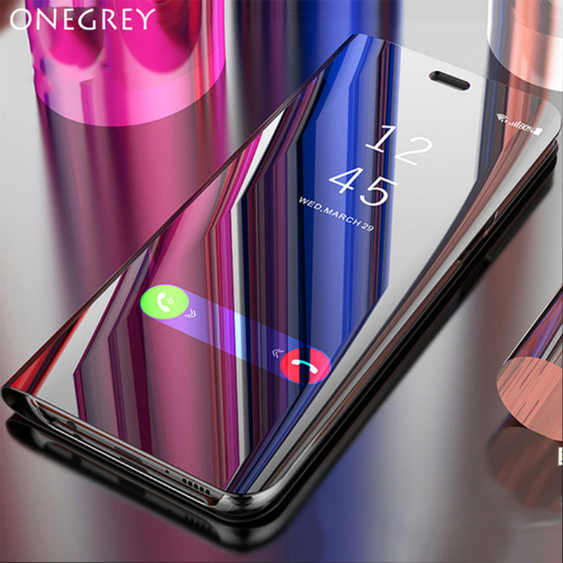Luxury Touch Flip Stand Case for <font><b>xiaomi</b></font> <font><b>mi</b></font> <font><b>max</b></font> <font><b>3</b></font> 360 Mirror Full Cover Leaher Original Mobile Phone Cases for <font><b>mi</b></font> MAX3 Etui Coque image