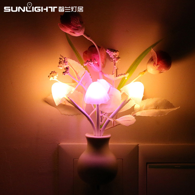 Dreamful Led Mushroom Lamp Light Sensing Senor Nightlight Nightlight Rose  Lamp