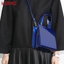 2016 New Fashion Totest Messenger Bags Explosion Models South Korea Simple Shiny All-match Square Handbag Crossbody Small Bag