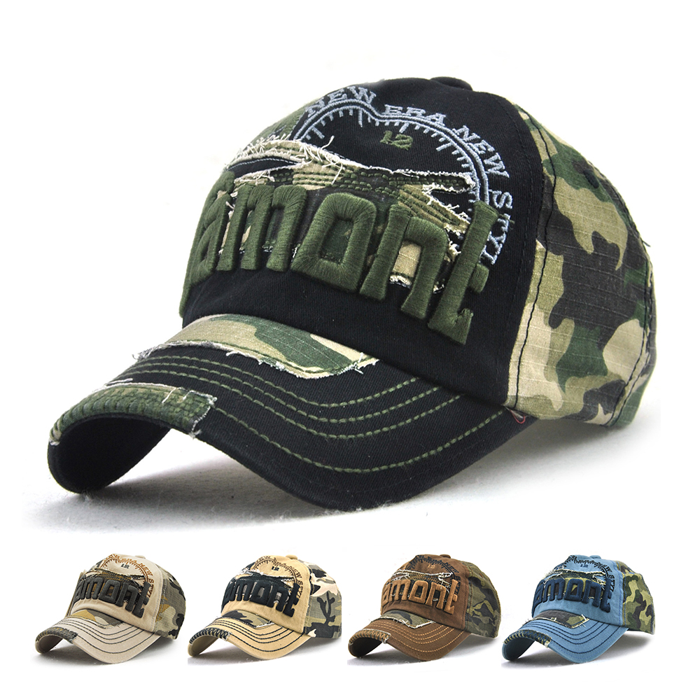 Camouflage Cap With Sun Screen Fishing Cap For Fishing Anglers Outdoor Hats