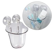 1 PC Wall Mounted Toothbrush Holder Durable Suction Cup Toothpaste Holder For Home Bathroom Accessories(Transparent) цена